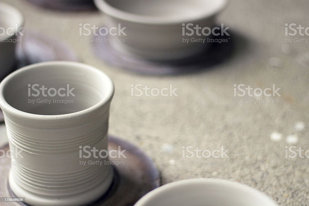 Pottery - Fresh from the Potter's Wheel royalty-free stock photo