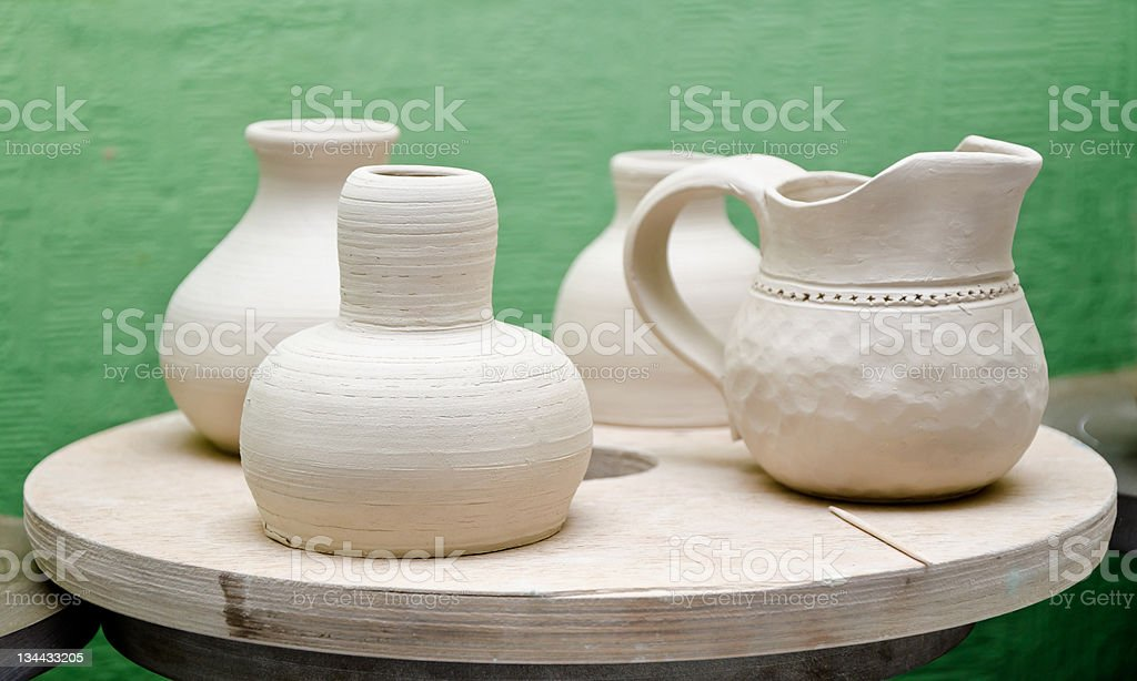 pottery handmade royalty-free stock photo