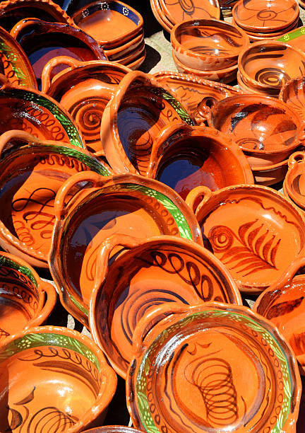 Pottery in Mexico stock photo