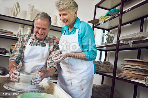 511679304 istock photo Pottery is their favorite pastime 512692352