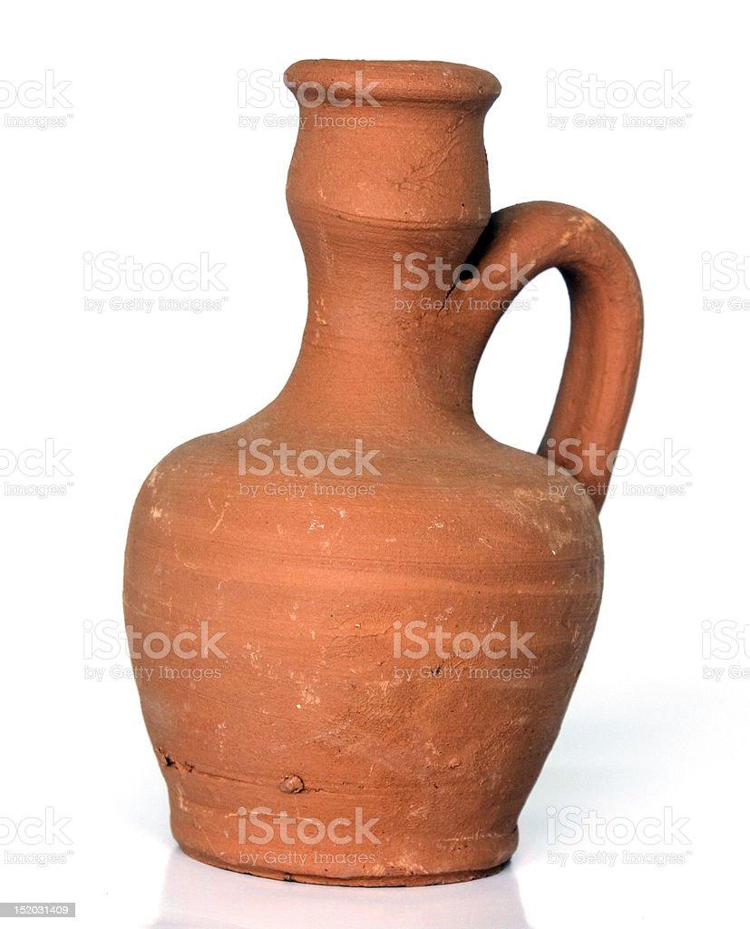 pottery jug stock photo