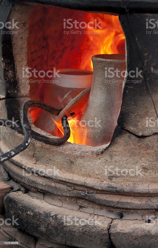 Pottery kiln stock photo