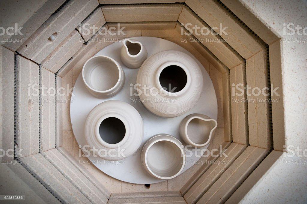 Pottery making kiln stock photo