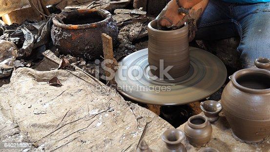 istock Pottery making 640218020