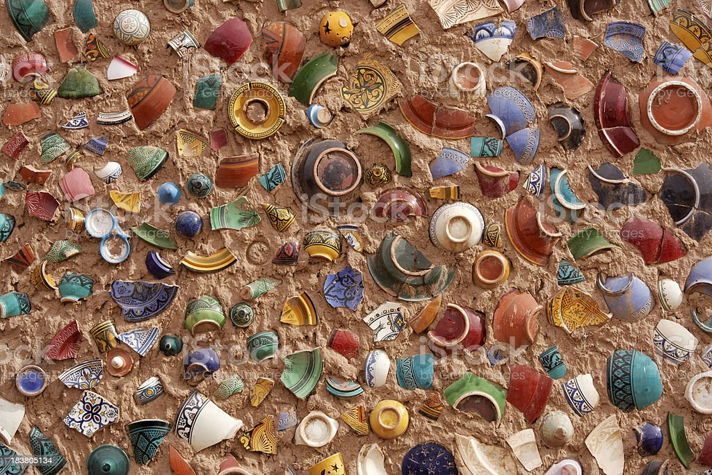 Pottery Mosaic royalty-free stock photo
