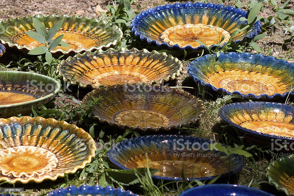 Pottery on Open-Air museum stock photo