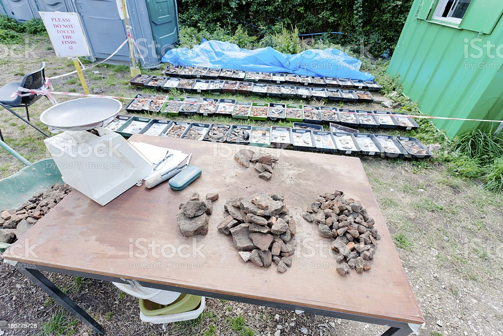 Pottery samples royalty-free stock photo