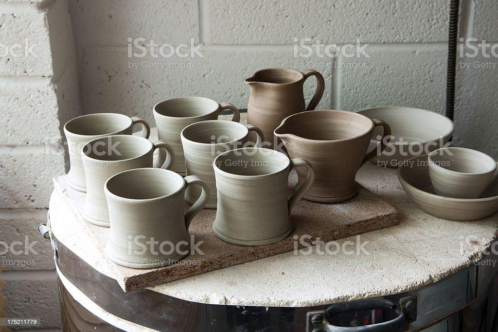 Pottery studio stock photo