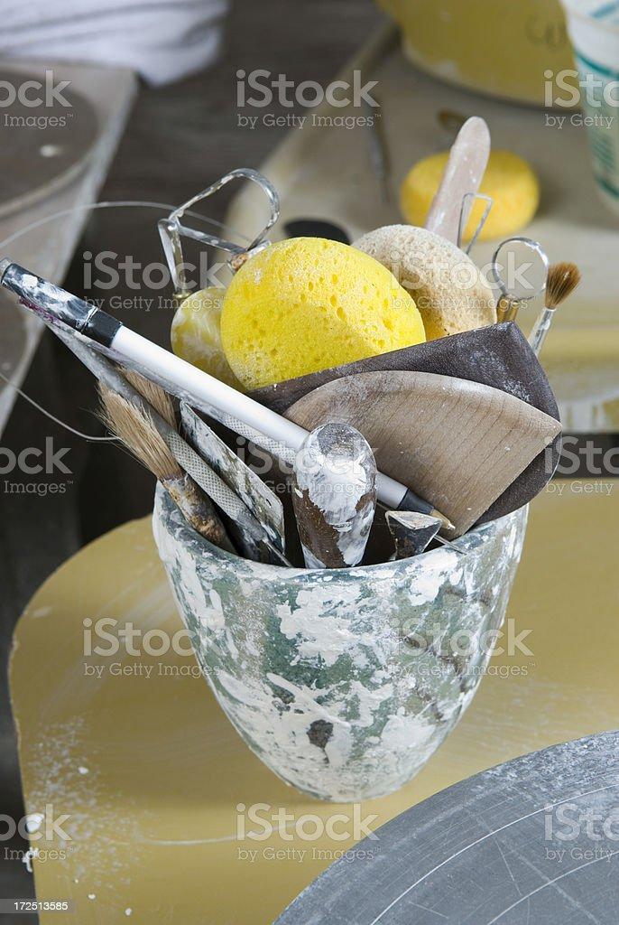 Pottery Tools royalty-free stock photo