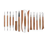 Art and craft sculpting tools isolated on white