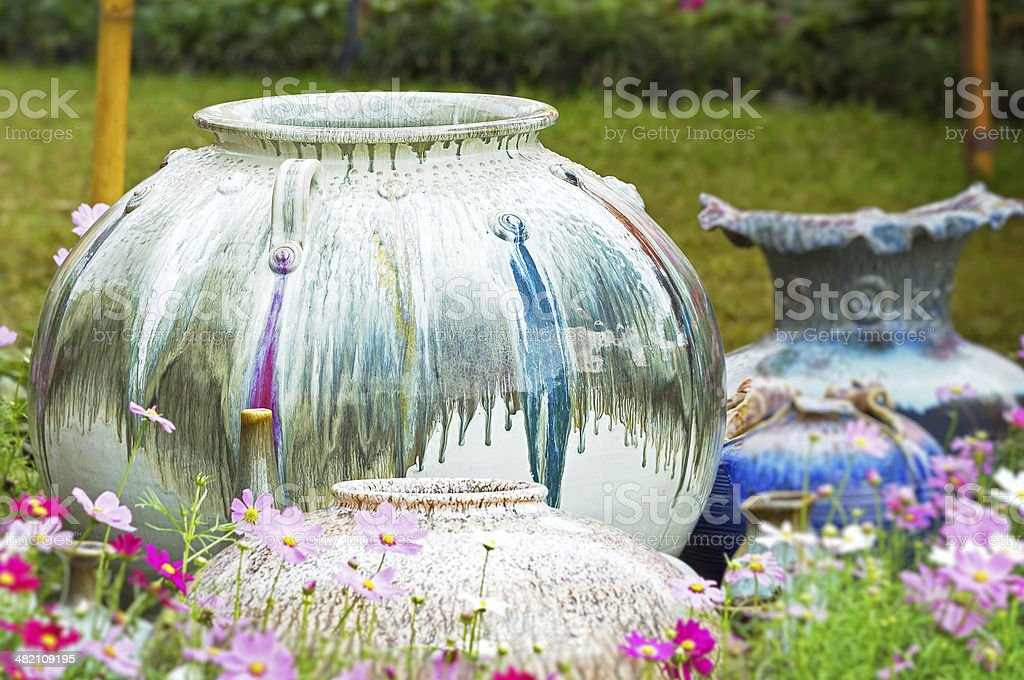 Pottery water jars royalty-free stock photo