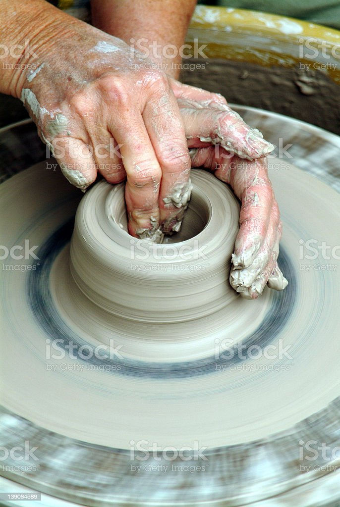 Pottery Wheel royalty-free stock photo