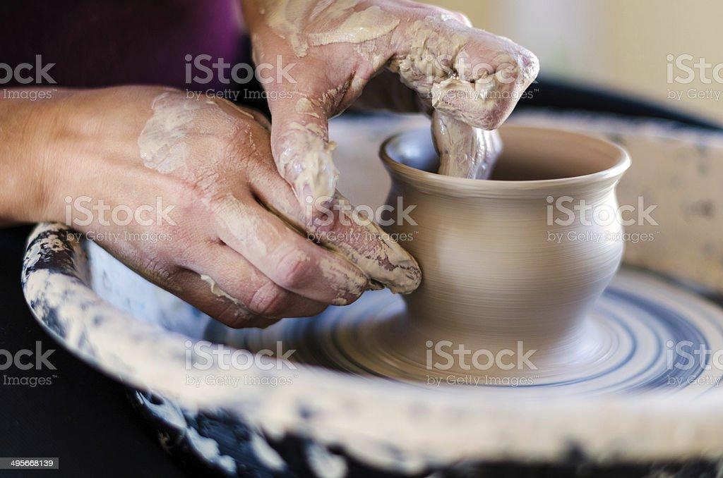 Pottery Wheel stock photo