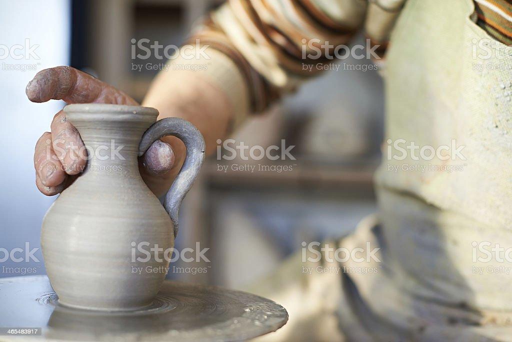 Pottery work royalty-free stock photo