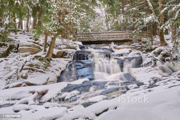 Photo of Potts Falls in winter 2