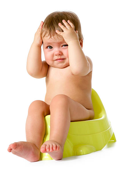Potty difficulties stock photo