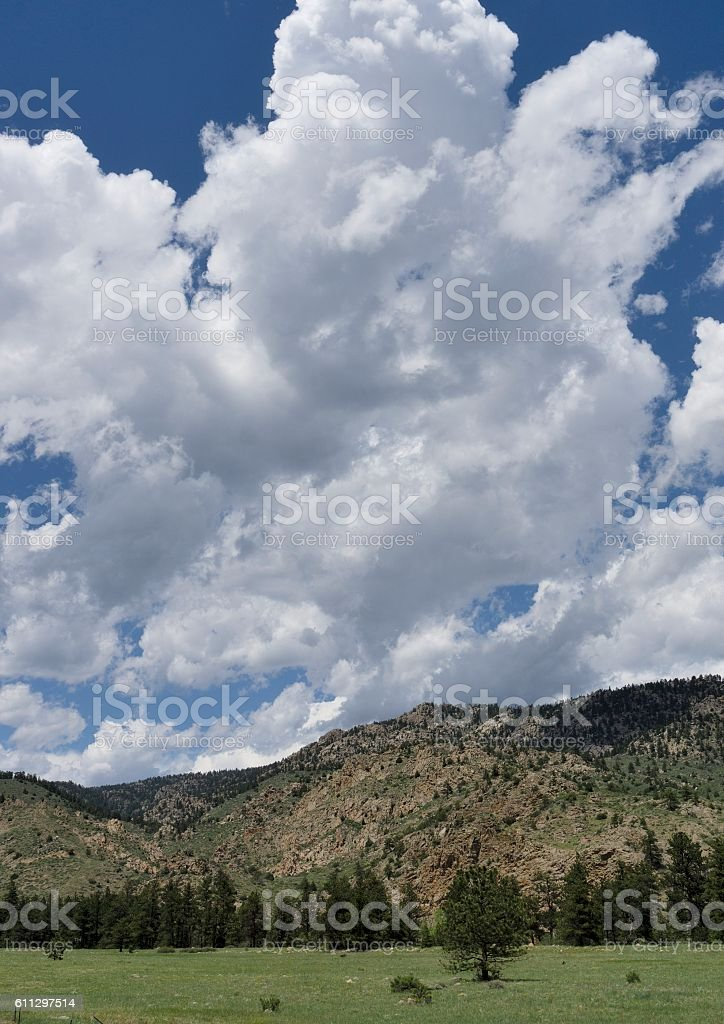 Poudre Canyon, Fort Collins, Colorado stock photo