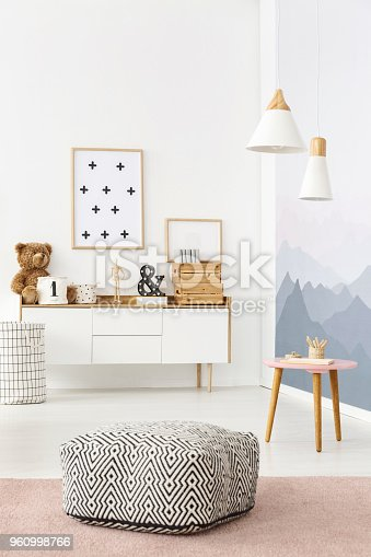 istock Pouf with pattern 960998766