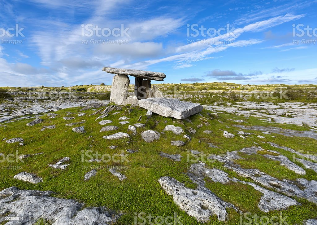 Poulnabrone dolmen, County Clare, Ireland. stock photo