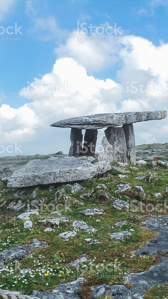 Poulnabrone dolmen, Ireland royalty-free stock photo