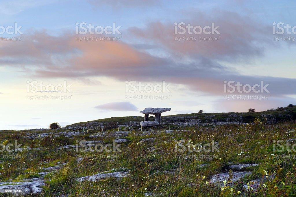 Poulnabrone Dolmen, The Burren, County Clare, Ireland royalty-free stock photo