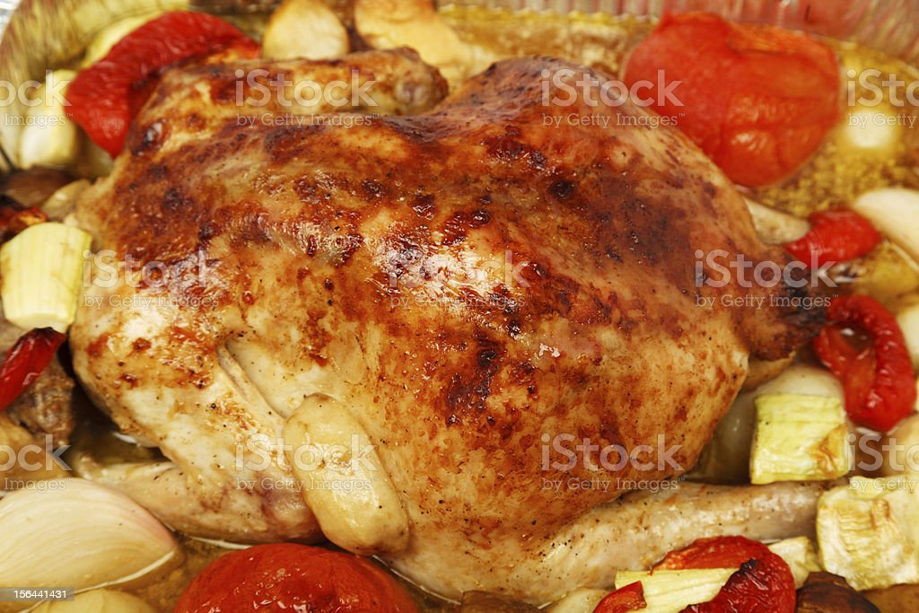Poultry: Roast Chicken royalty-free stock photo