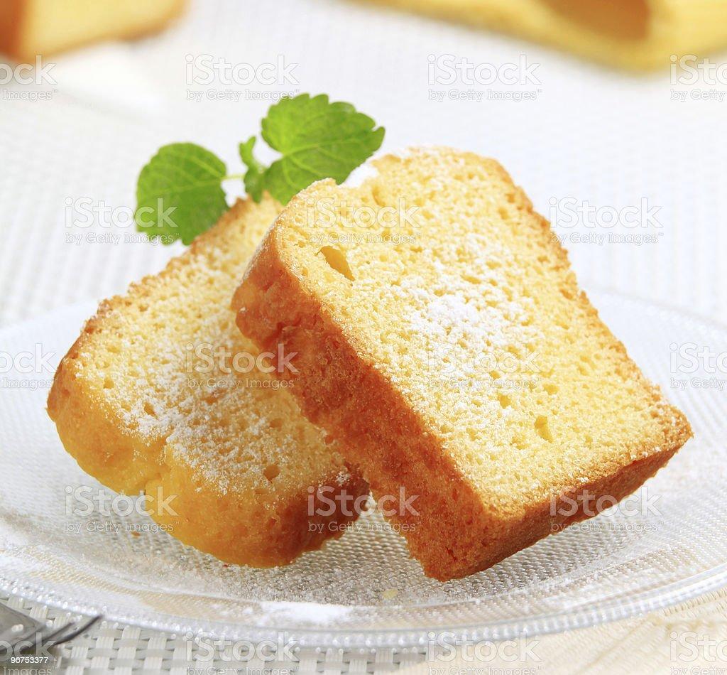 Pound cake royalty-free stock photo