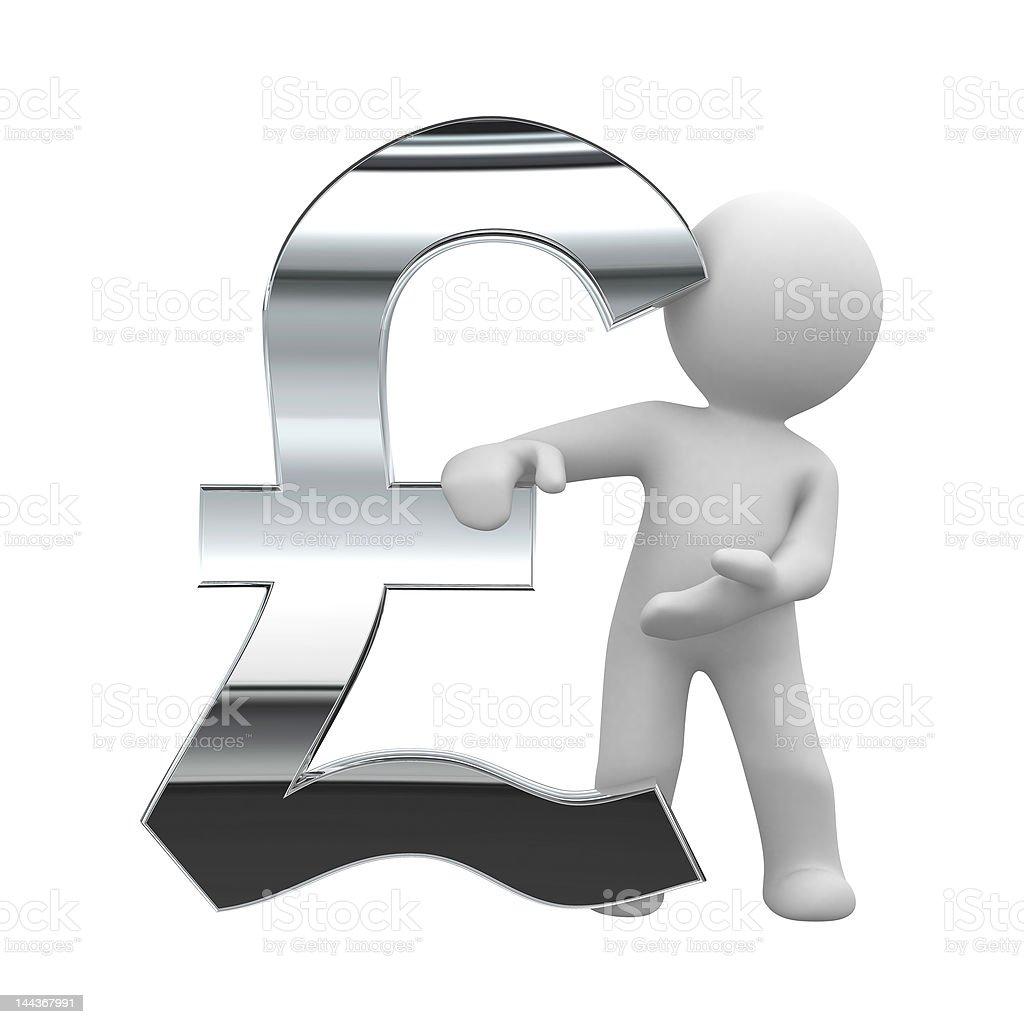pound chrome symbol royalty-free stock photo