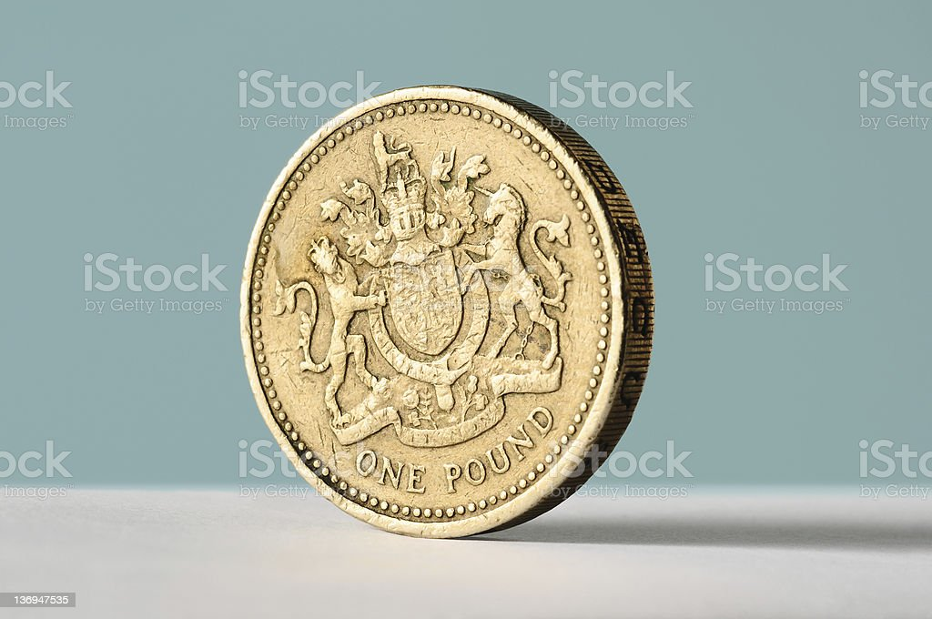 pound coin stock photo