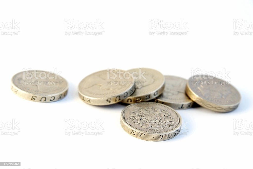 Pound coins stock photo