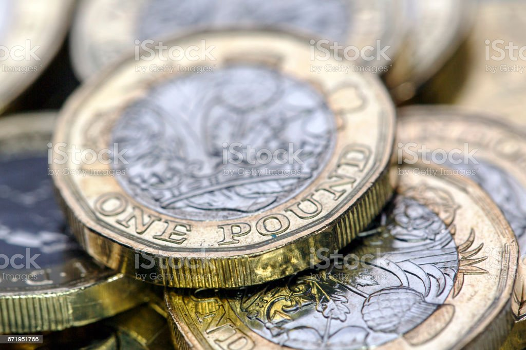 Pound Coins - UK stock photo