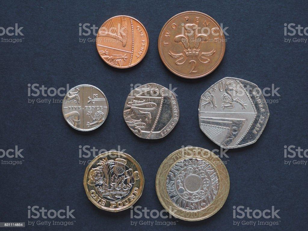 Pound coins, United Kingdom stock photo