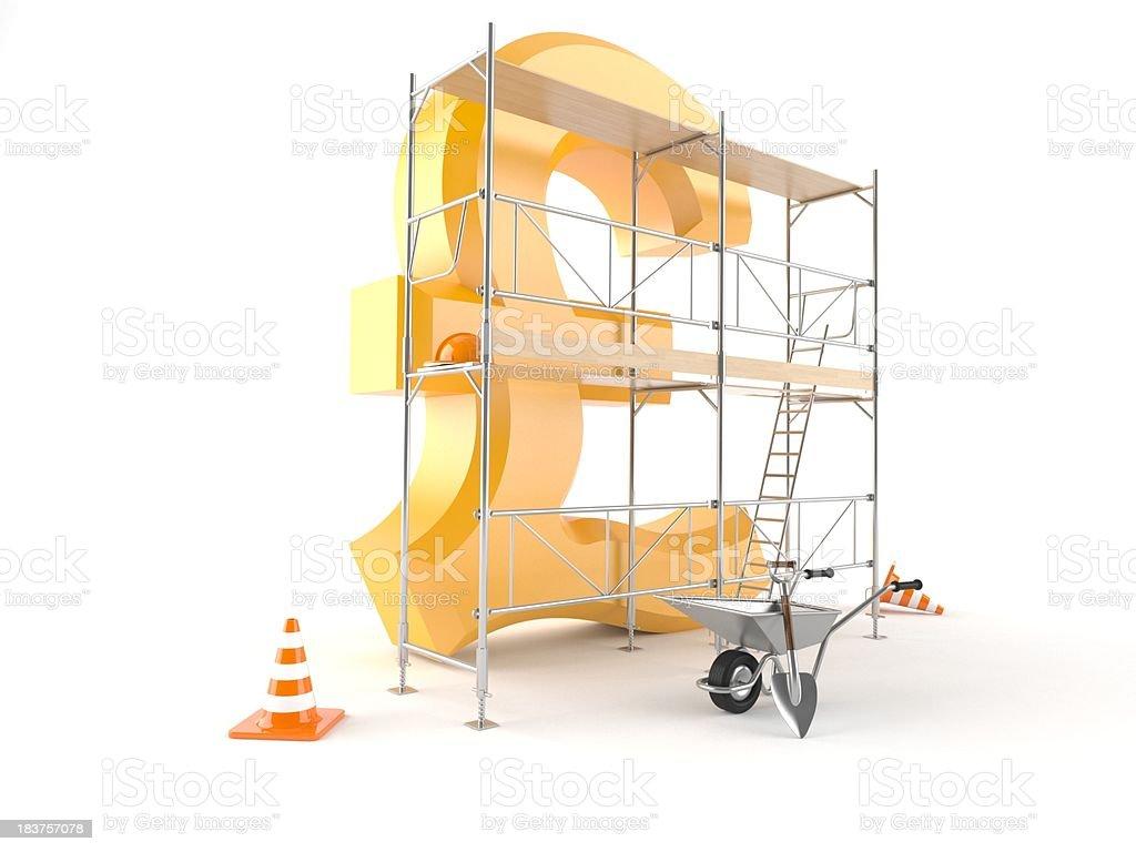 Pound construction royalty-free stock photo