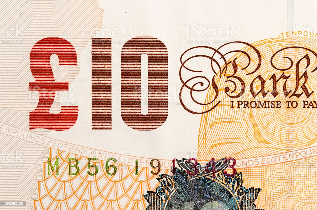 Pound currency background - 10 Pounds royalty-free stock photo