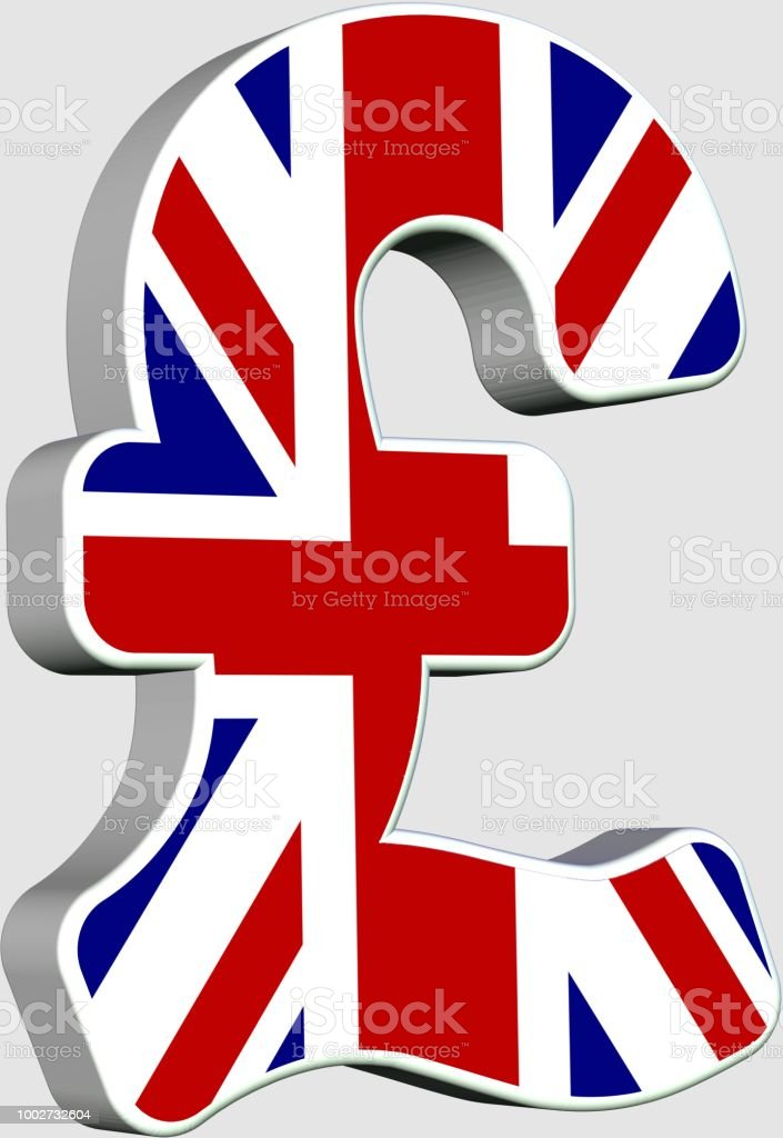 Gb Pound Currency Flag Symbol 3d Stock Photo More Pictures Of