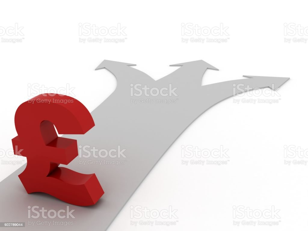 Uk Pound Currency Symbol Finance Business Investment Stock Photo