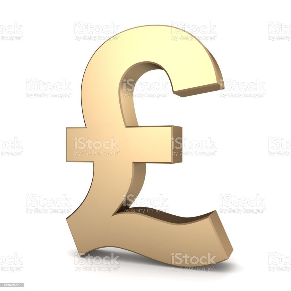 Uk Pound Currency Symbol Gold Stock Photo More Pictures Of Brexit