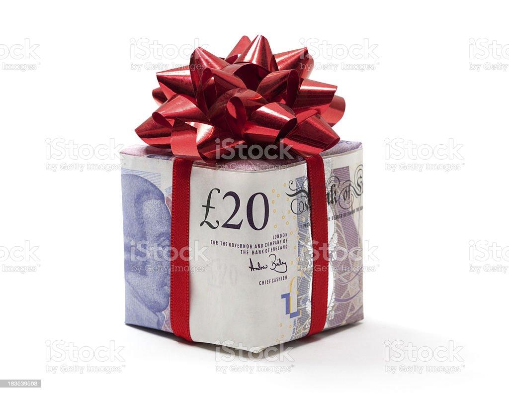 Pound gift royalty-free stock photo