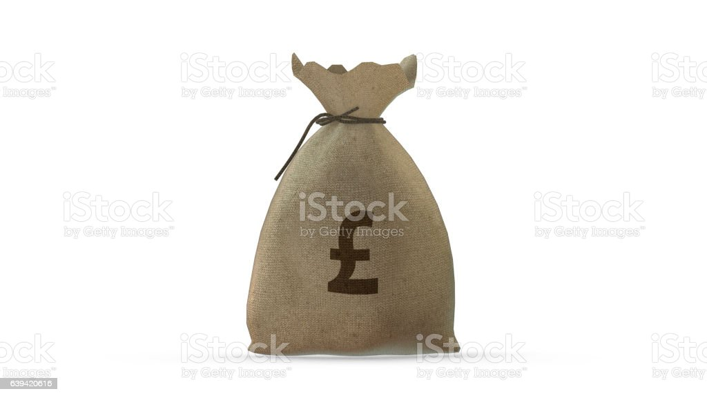 Pound Money Bag stock photo