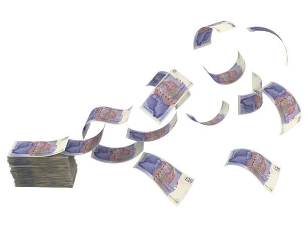 Britisches Pfund fallende britische Währung – Foto
