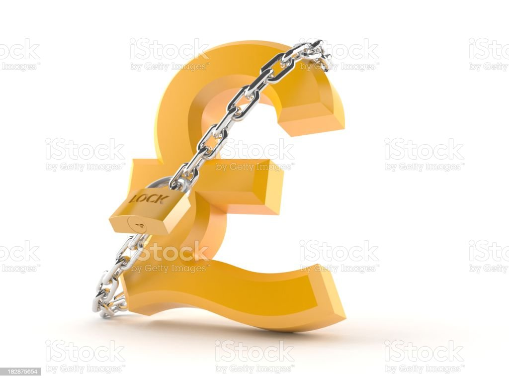 Pound secure royalty-free stock photo