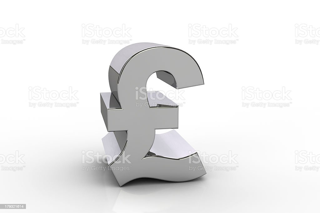 3D pound sterling currency symbol royalty-free stock photo