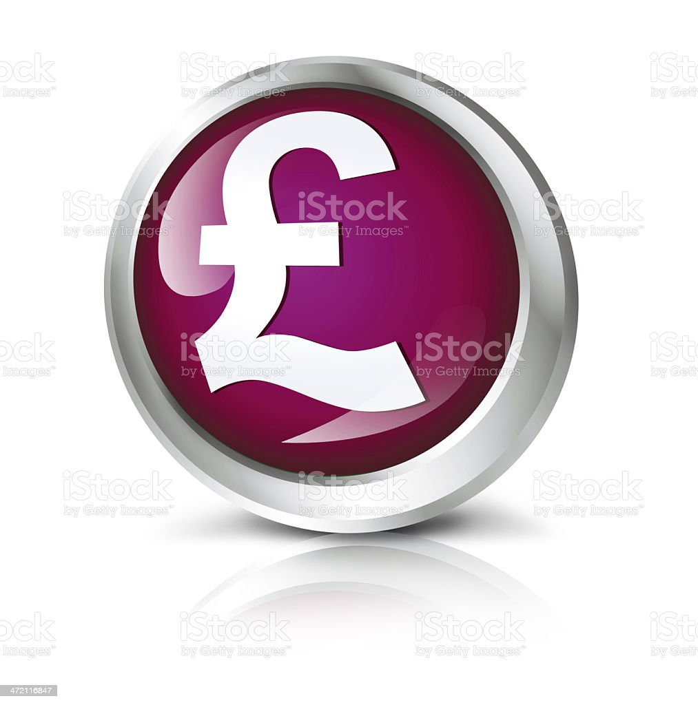 Pound sterling icon stock photo