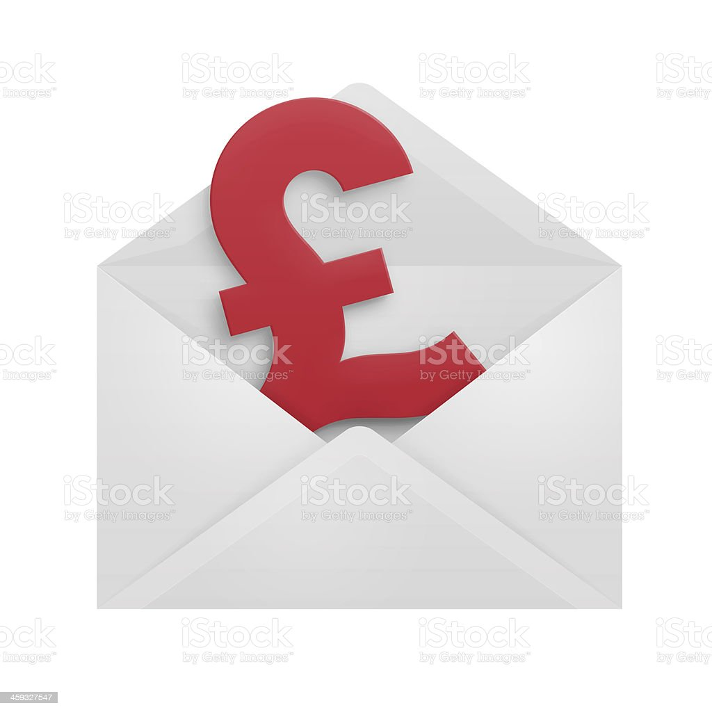 Pound Sterling In An Envelope Stock Photo More Pictures Of Bank