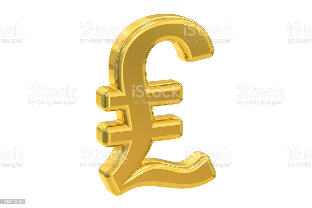 Pound Sterling Symbol 3d Rendering Stock Photo More Pictures Of