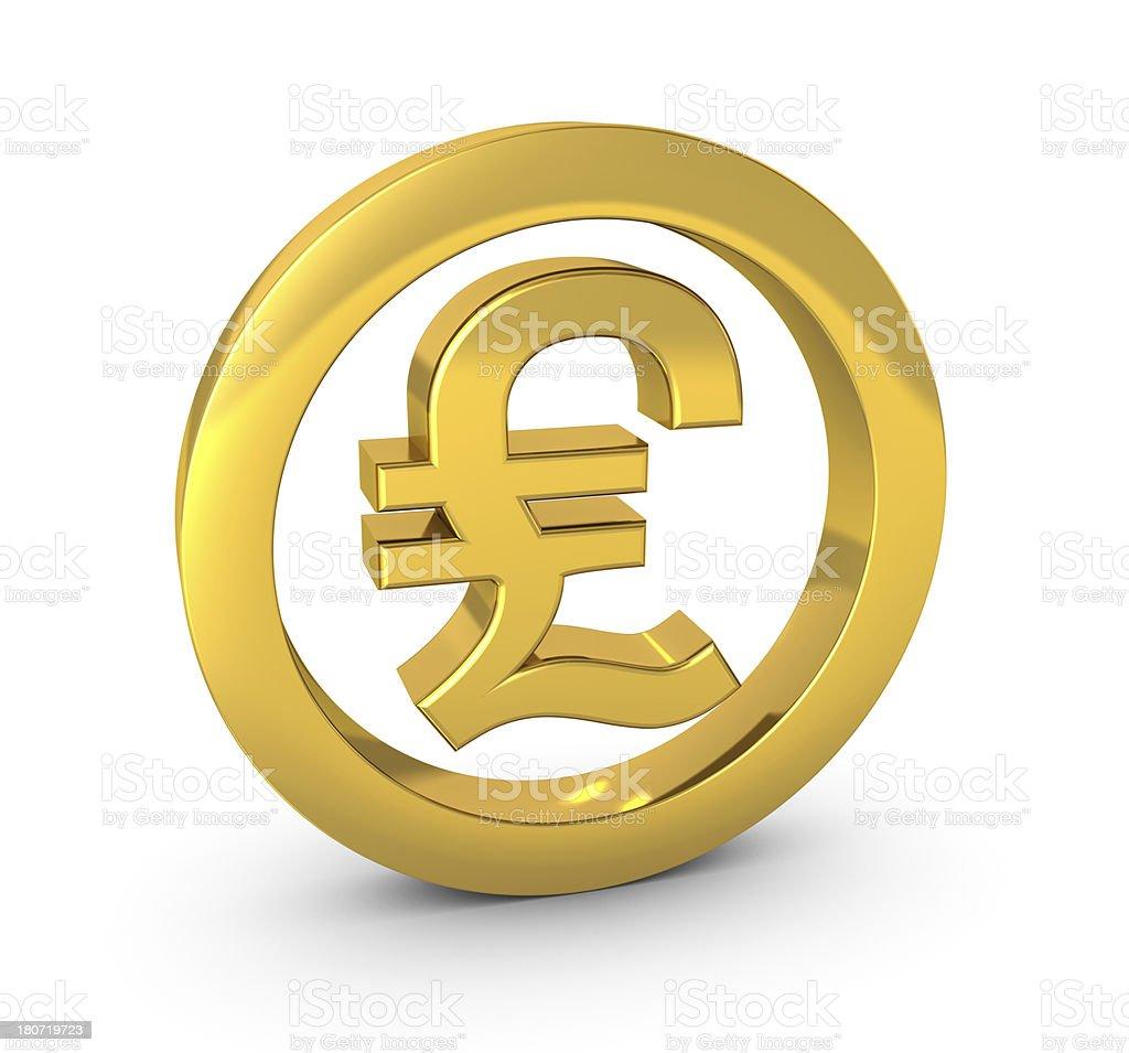 Pound Symbol royalty-free stock photo