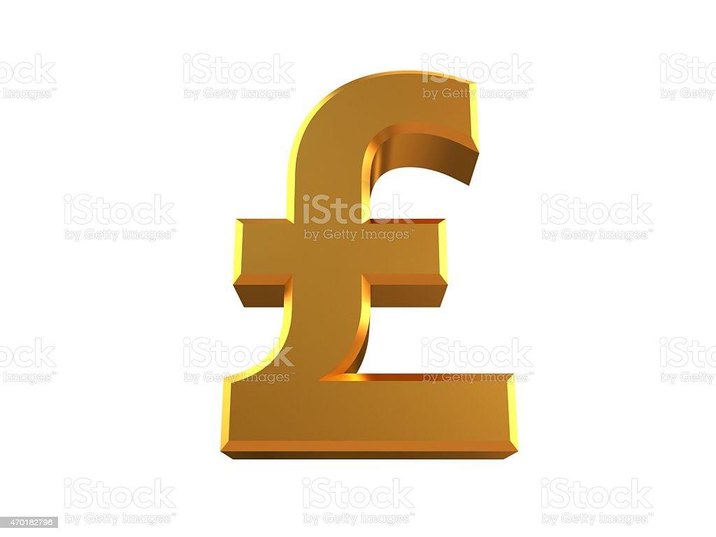 Pound Symbol stock photo