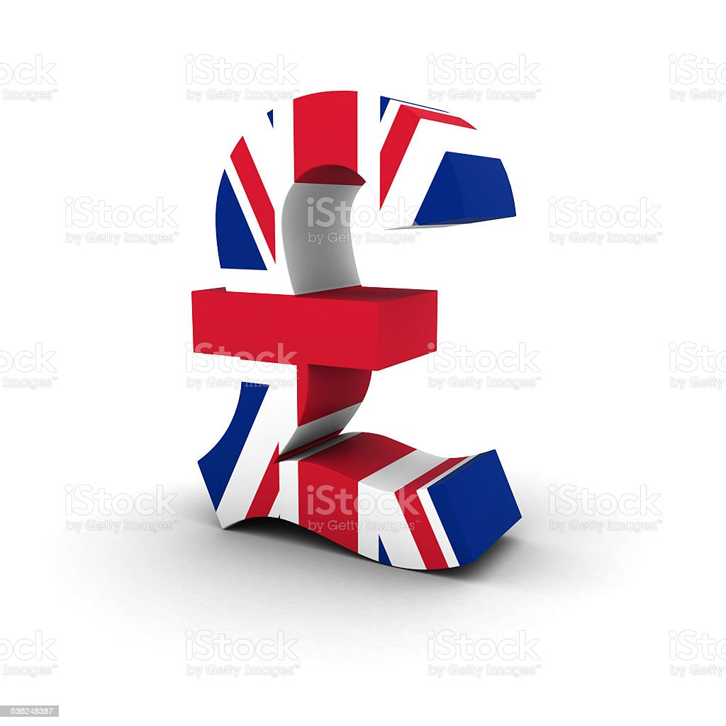 Pound Symbol Uk Flag Stock Photo More Pictures Of 2015 Istock