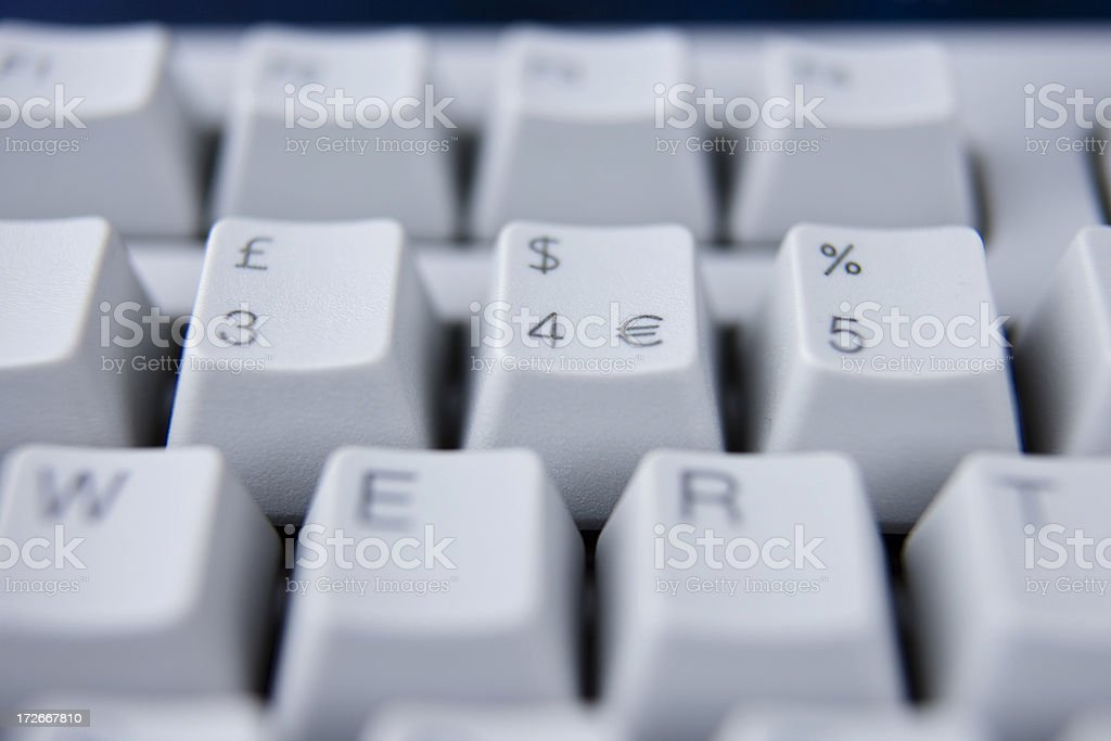 Pounds, dollars and cents royalty-free stock photo