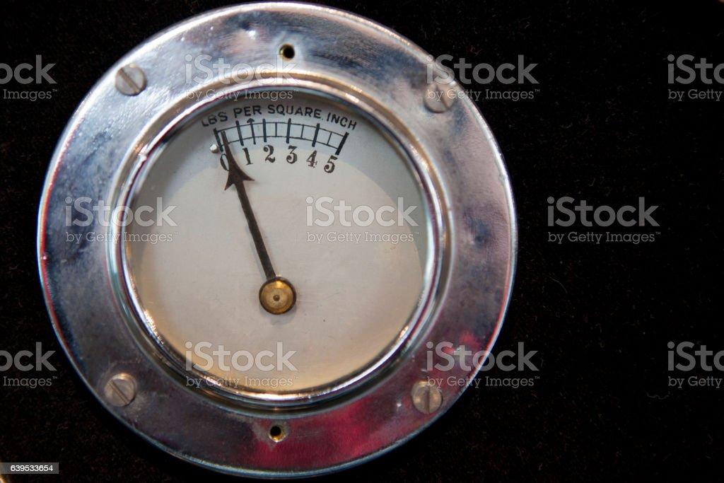 Pounds per square inch indicator stock photo